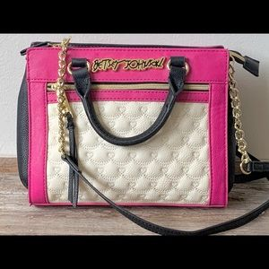 Betsey Johnson quilted leather crossbody bag